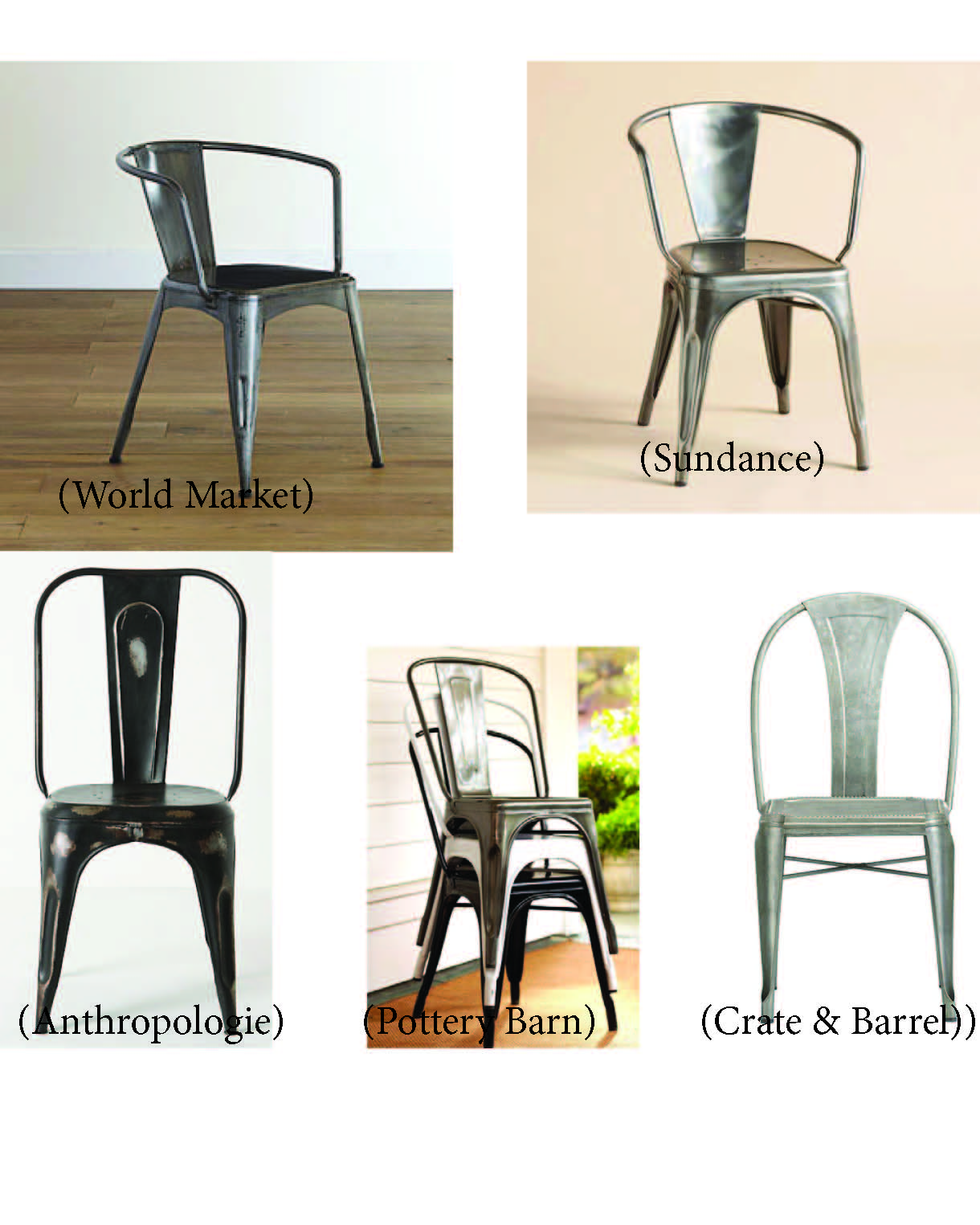 Metal dining chairs industrial our current chairs are kind of